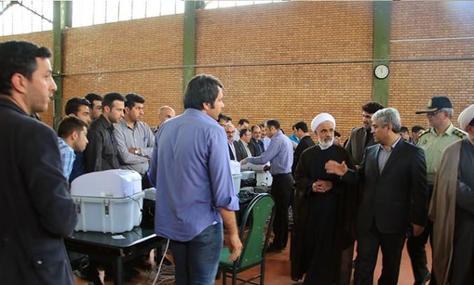 بازدید از ستاد انتخابات و کارگاه آموزشی شعب الکترونیک شهرستان شهریار