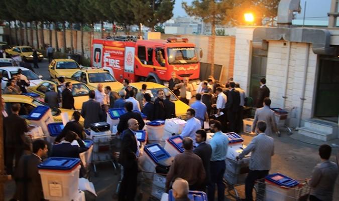 توزیع صندوقهای رأی شهرستان شهریار