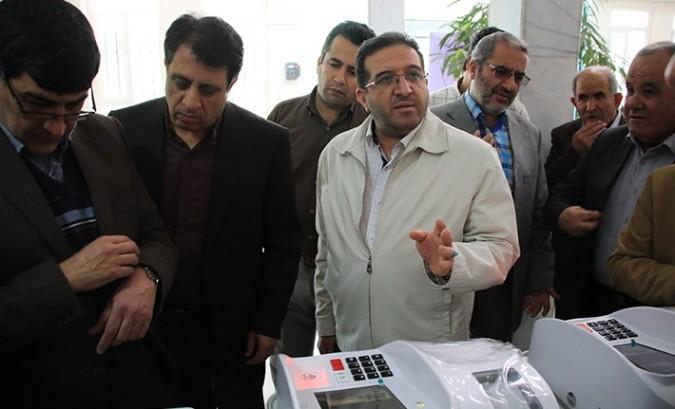 مانور انتخابات تمام الکترونیک در فرمانداری شهریار برگزار شد