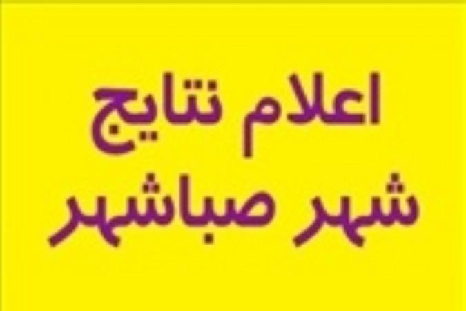 اعلام نتایج آرای پنجمین دوره انتخابات شورای اسلامی شهر صباشهر
