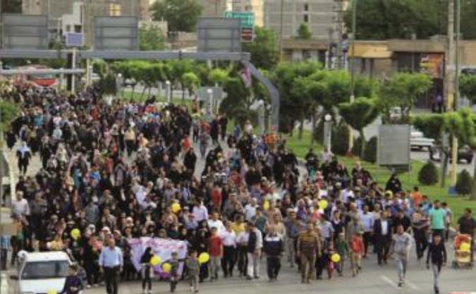 برگزاری همایش بزرگ پیاده روی خانوادگی در شهرستان قدس
