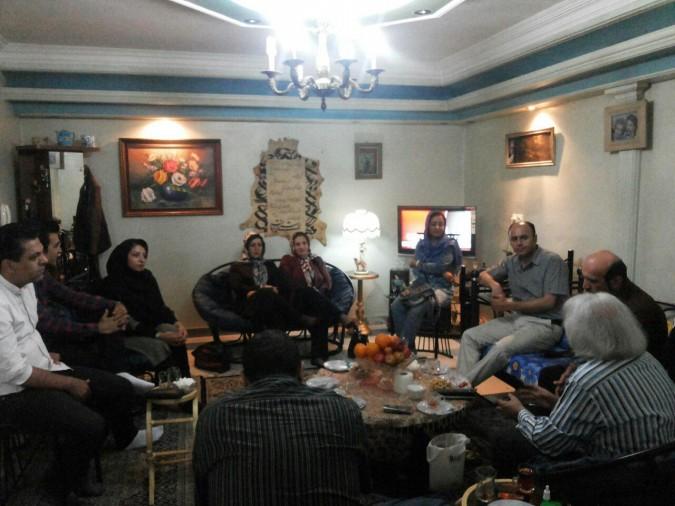 دیدار تعدادی ازشاعرین شهریار و استان البرز با استاد فرهنگ رزاقی