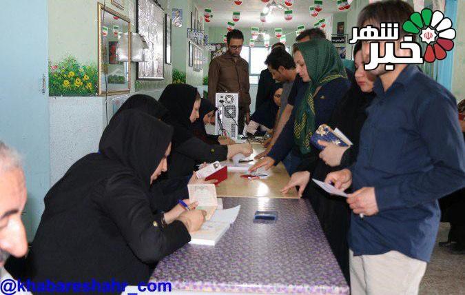 گزارش تصویری از شعبات اخذ رای انتخابات ریاست جمهوری و  شورای شهر در سطح شهر شهریار