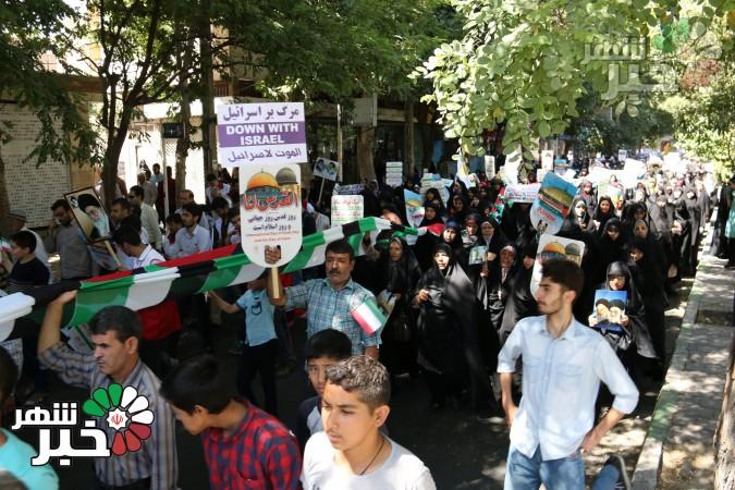 گزارش تصویری حضور حماسی مردم شهرستان شهریار در راهپیمایی روز قدس