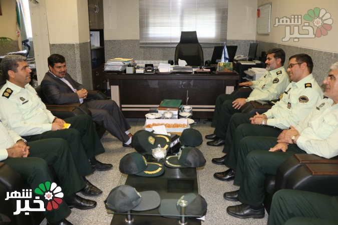 دیدار فرمانده نیروی انتظامی و جمعی از معاونین با رئیس دادستان شهرستان ملارد