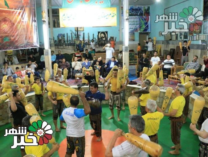 میزبانی ورزشکاران ورزش باستانی حسین ابن علی (ع) شهریار از ورزشکاران دماوند
