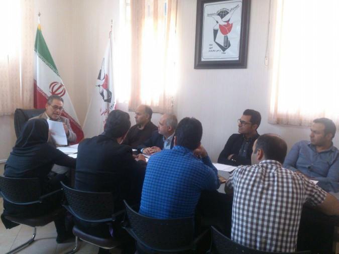 جلسه توجیهی دفترپیشخوان خدمات ایرانیان با رییس بنیادشهیدوامورایثارگران شهریار.