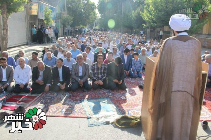 نماز روز عیدفطر در مسجد حبیب ابن مظاهر عباس آباد شهریار