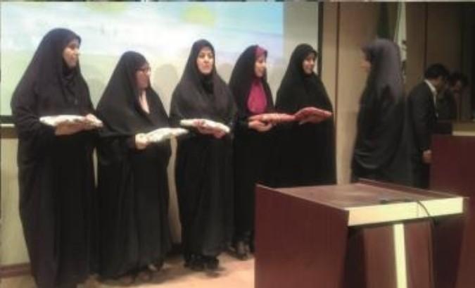 برگزاری مراسم عفاف و حجاب شهرستان قدس