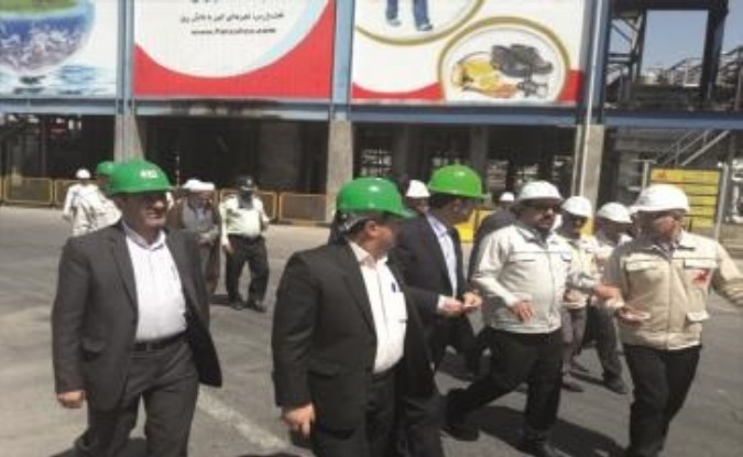 بازدید فرماندار شهرستان قدس از شرکت نفت پارس