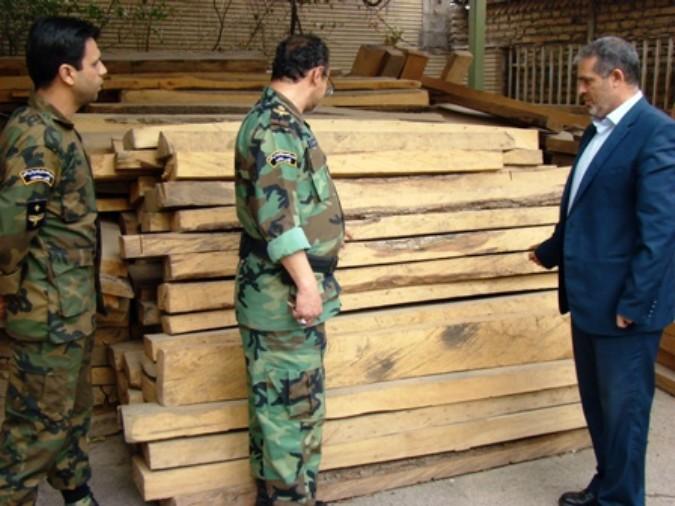 قاچاقچیان چوب زیر ذره بین پلیس و ماموران منابع طبیعی غرب استان تهران