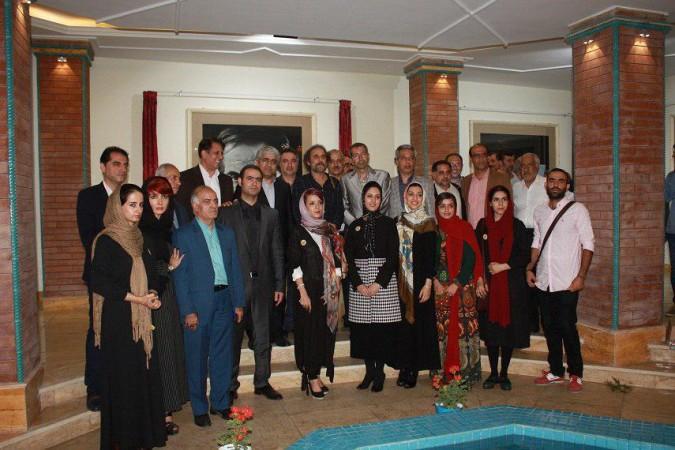 بازدید اعضای انجمنهای ادبی ، موسیقی از نمایشگاه آموزشگاه هنرهای تجسمی آژنگ درشهرستان شهریار