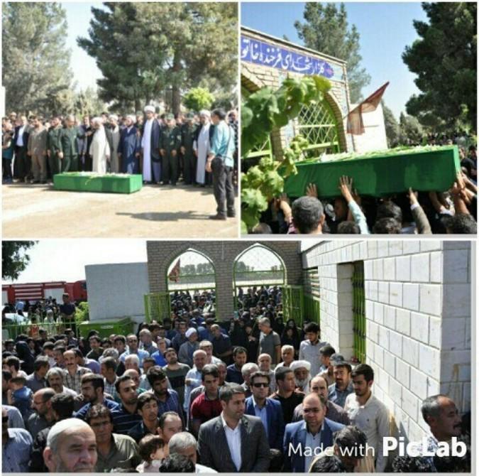 مراسم تشییع پیکر شهید مدافع حرم در شهریار