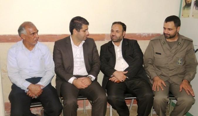 بازدید مسئول بسیج دانش آموزی سپاه حضرت سید الشهداء از شهریار