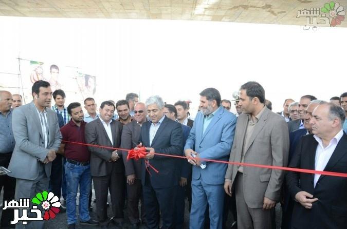 افتتاحیه فاز اول تقاطع همسطح میدان صیادشیرازی در هفته دولت