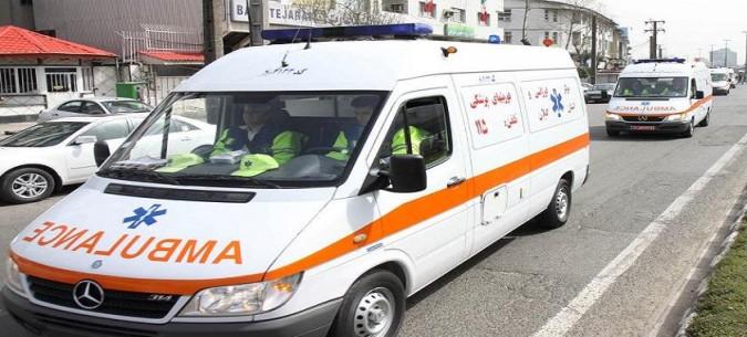 مصدومیت 6 مسافر در برخورد مینیبوس با گاردریل در شهریار
