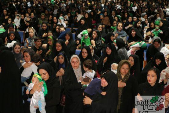 برگزاری همایش بزرگ شیرخوارگان حسینی درشهر وحیدیه