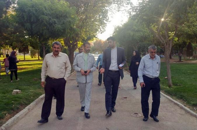 بازدید مدیریت شهری قدس از پارک حضرت ولیعصر(عج)