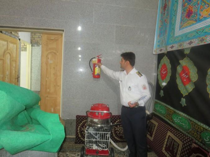 بازدید مساجد و تکایا در ماه محرم توسط کارشناسان پیشگیری سازمان آتش نشانی شهریار
