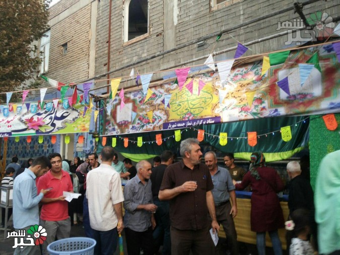 برپایی ایستگاه صلواتی به مناسبت عیدغدیر در شهریار