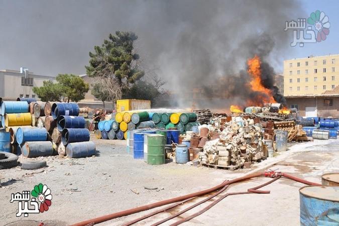 آتش سوزی کارخانه نقش رنگ در ملارد