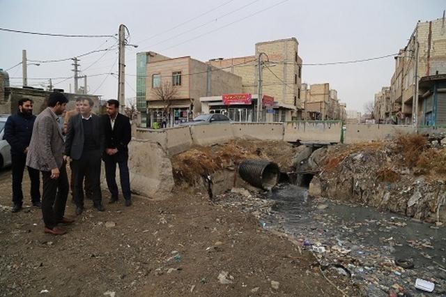 بازدید میدانی شهردار شهریار از حوضچه فاضلاب امیریه