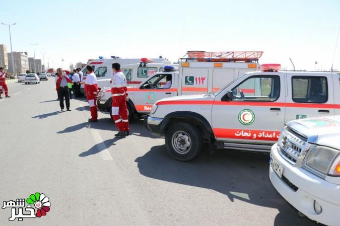 مانور هلال احمر شهرستان ملارد و اعلام آمادگی به صورت رسمی برای سفرهای نوروزی97