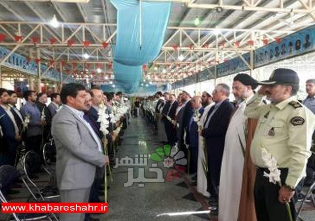 گلباران مزار شهدای شهر ملارد به مناسبت هفته قوه قضاییه