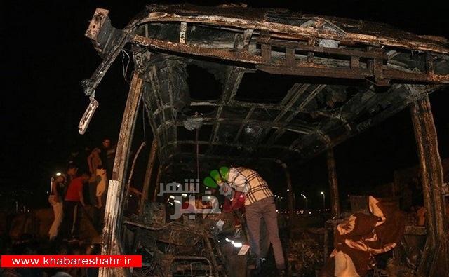 """تصادف تانکر نفتکش با اتوبوس مسافربری """"هیچگونه"""" ارتباطی به سپاه ندارد"""