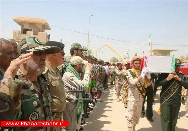 ورود پیکر مطهر ۶۰ شهید دفاع مقدس از مرز خسروی به کشور+عکس و فیلم