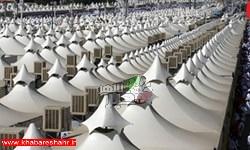 آمادهسازی چادرهای عرفات برای حجاج ایرانی به روایت تصاویر