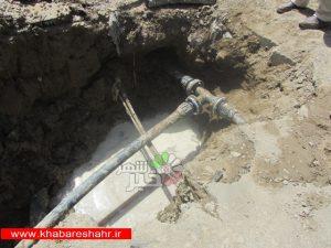 رفع افت فشار شبکه آبرسانی در شهرستان قدس