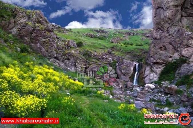 در این منطقه ایران،از گرما در امانید + تصاویر