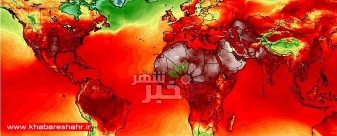 رکورد گرمای جهان در هفته گذشته جابجا شد! زمین در آتش !