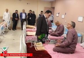 معاون تعاون و امور اجتماعی بنیاد ایثارگران از روند خدمات بیمارستان میلاد شهریار بازدید کرد