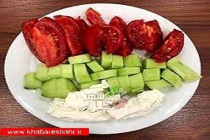 هشدار در خصوص مصرف پنیر با خیار و گوجه