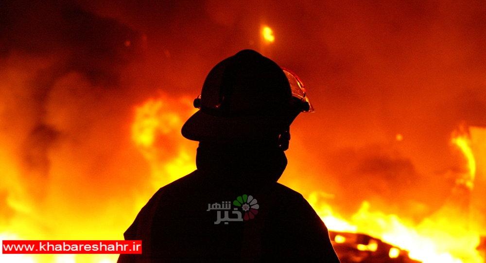 آتش سوزی و انفجار در واحد تولیدی یونولیت در شهریار