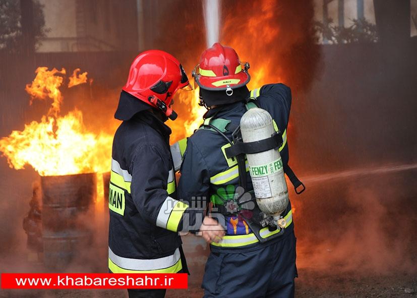 آتش سوزی یک دامداری در روستای هفت جوی/حجم وسیعی از علوفه در آتش سوخت