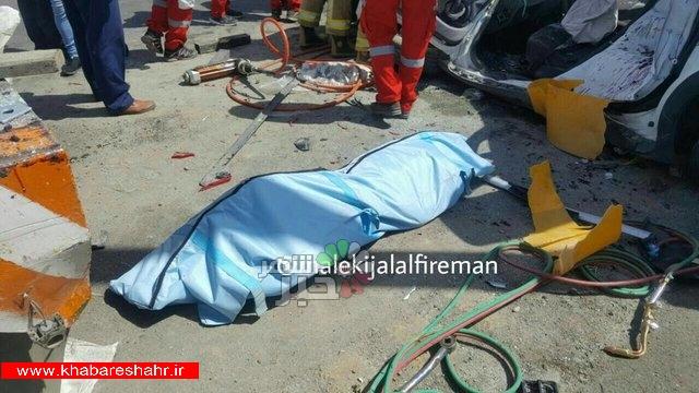 تصادف مرگبار ۲۰۶ با راننده نیسان در جاده مخصوص