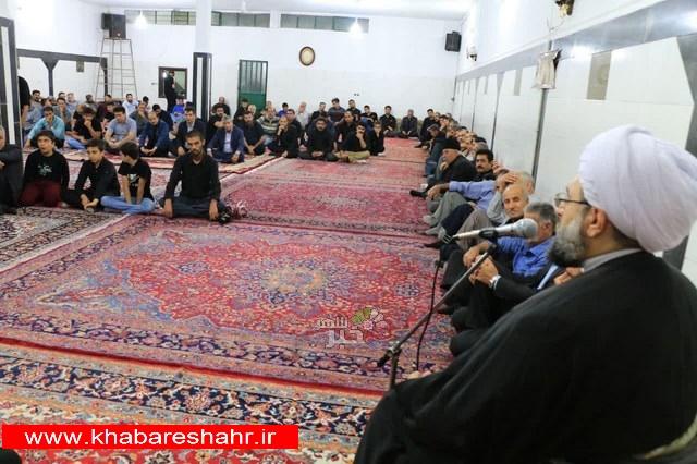 مراسم عزاداری در حسینیه حضرت ابوالفضل (ع) فردوسیه شهریار برگزار شد