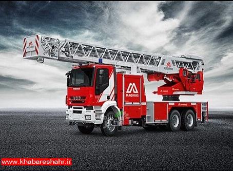 خرید یک دستگاه خودرو حامل نردبان۳۲متری آتش نشانی توسط شهرداری شهریار