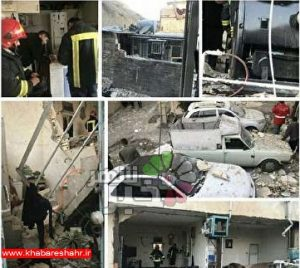 مصدومیت 2 تن در انفجار گاز شهرقدس