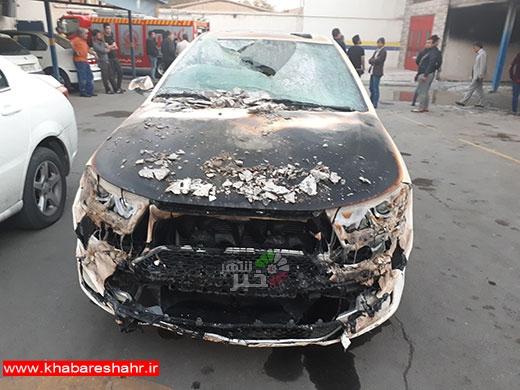 سه دستگاه خودرو سواری در نمایندگی ایران خودرو شهریار طعمه حریق شد
