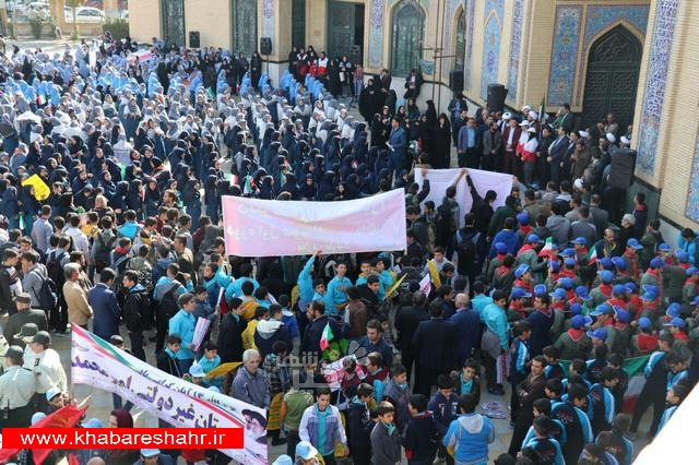 گزارش تصویری از راهپیمایی 13 آبان 1397 در شهرستان ملارد