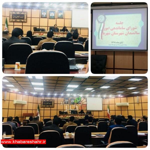 جلسه شورای ساماندهی امور سالمندی در شهرستان شهریار برگزار شد