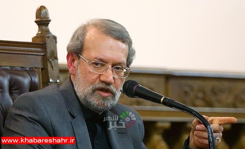 لاریجانی: «دیپلماسی بزک» را دنبال نمیکنیم/ کنایه به ظریف درباره پولشویی