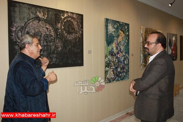 دیدار و بازدید از نمایشگاه آثار نقاشیخط استاد مرادفتاحی دراندیشه  شهریار