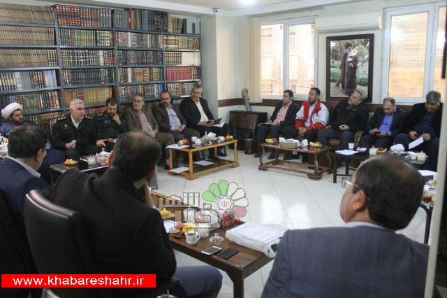 نشست مشترک کارگروه های چهلمین سال پیروزی انقلاب اسلامی در شهرستان شهریار برگزار شد