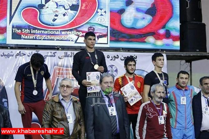کسب مدال برنز توسط امیر محمد نصیری آزاد کار شهرداری شهریار در مسابقات بین المللی کشتی آزاد جام شهید نظری