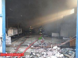 آتش سوزی کارگاه یونولیت در ملارد دچار حریق شد